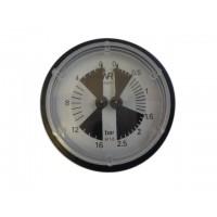 Маноментр на две шкалы диаметр  60мм  2.5:16 BAR