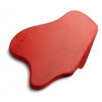 Красный угловой коврик для темпера (фигурный)