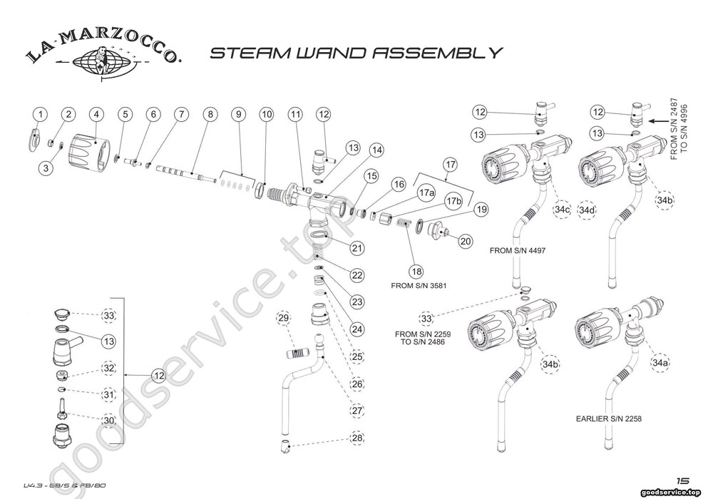 Steam Wand Assembly